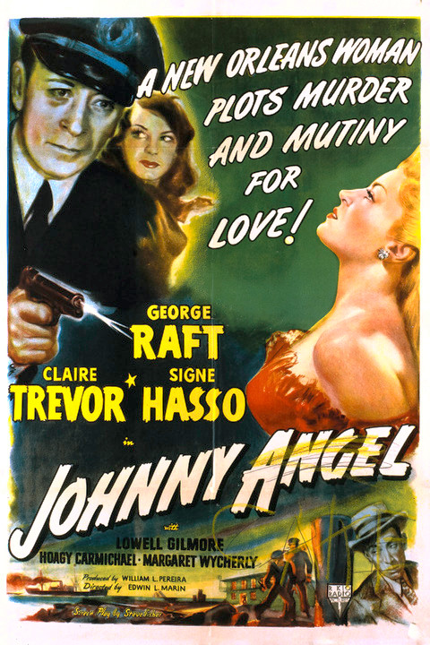 Signe Hasso, George Raft, and Claire Trevor in Johnny Angel (1945)