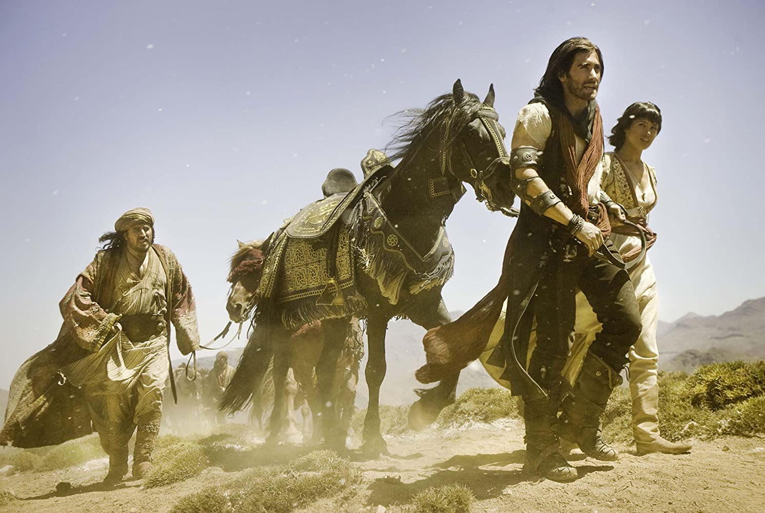 Alfred Molina, Jake Gyllenhaal, and Gemma Arterton in Prince of Persia: The Sands of Time (2010)
