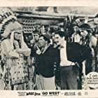 Groucho Marx, Mitchell Lewis, and Chico Marx in Go West (1940)