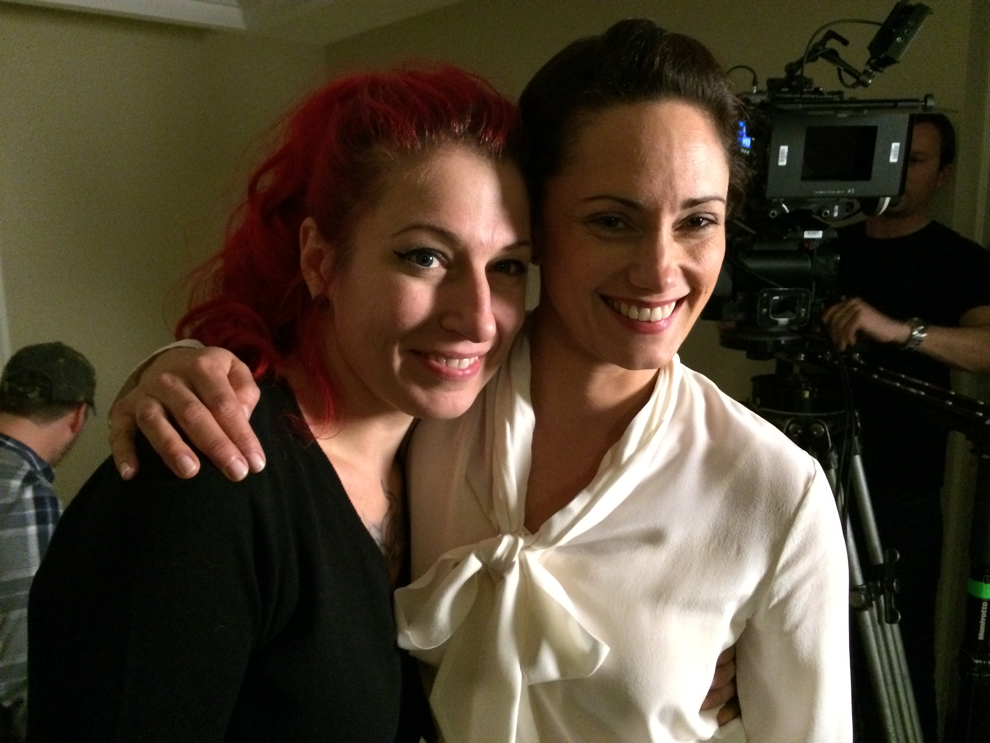 With The Strain star Natalie Brown on the set of XX.