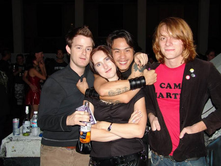 Layton Matthews, Rebecca Parisi, Pearry Teo(director of Gene Generation) and John from The Words all hanging out at Maladiction
