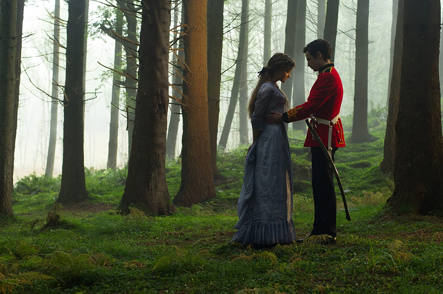 Tom Sturridge and Carey Mulligan in Far from the Madding Crowd (2015)