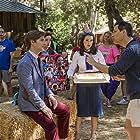 Alyssa Milano, Adam Scott, Michael Ian Black, Marguerite Moreau, and Marisa Ryan in Wet Hot American Summer: Ten Years Later (2017)