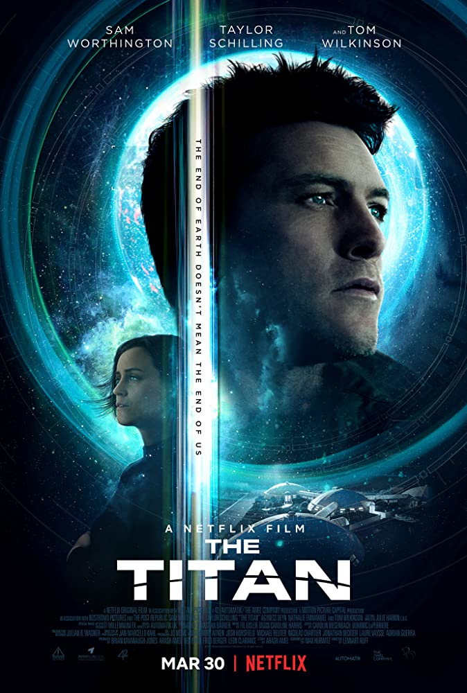 Sam Worthington and Taylor Schilling in The Titan (2018)