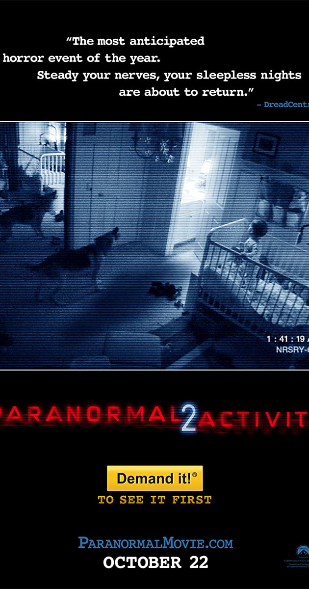 Subtitle of Paranormal Activity 2