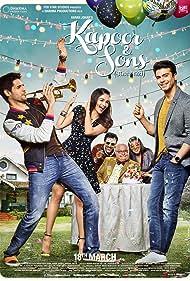 Rajat Kapoor, Rishi Kapoor, Ratna Pathak Shah, Alia Bhatt, Fawad Khan, and Sidharth Malhotra in Kapoor & Sons (2016)