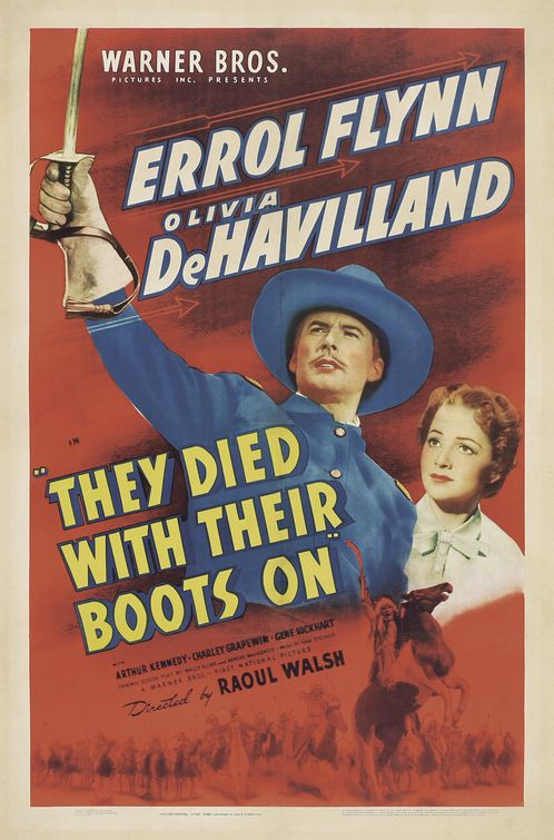 Olivia de Havilland and Errol Flynn in They Died with Their Boots On (1941)