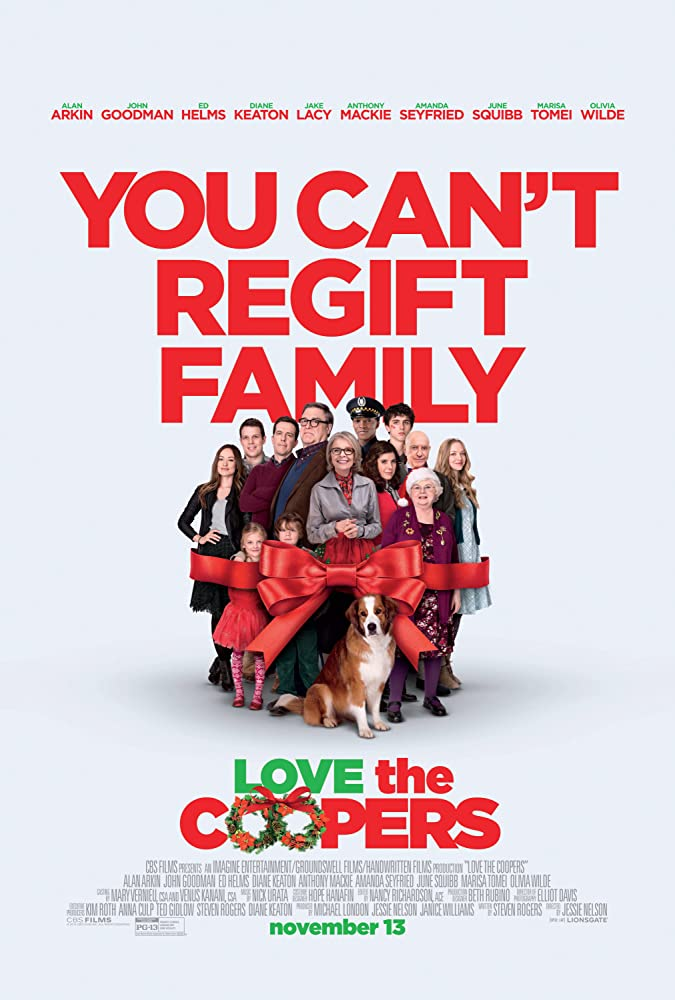 Alan Arkin, John Goodman, Diane Keaton, Marisa Tomei, Alex Borstein, June Squibb, Amanda Seyfried, Ed Helms, Olivia Wilde, Timothée Chalamet, Jake Lacy, Maxwell Simkins, and Blake Baumgartner in Love the Coopers (2015)