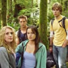 """""""Not too happy to be lost in the woods with Bigfoot on the prowl."""" (Casey LaBow, Brandon Henschel, Chelsea Hobbs, Dylan Purcell)"""