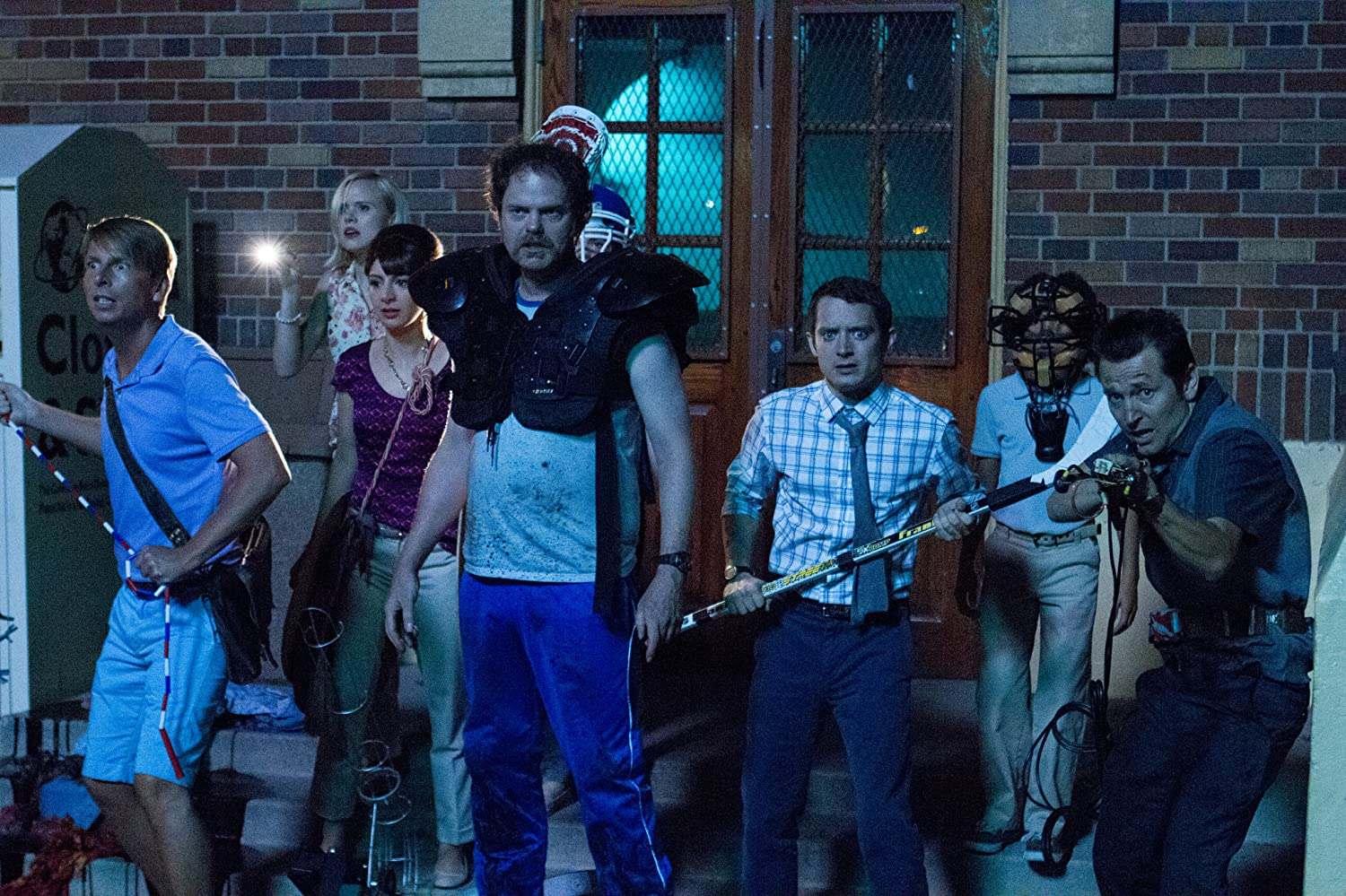 Elijah Wood, Alison Pill, Rainn Wilson, Leigh Whannell, Jack McBrayer, and Nasim Pedrad in Cooties (2014)