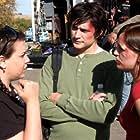 Karen Stein with Rick (Matt Dallas) and Angie (Sarah Thompson) going to class.