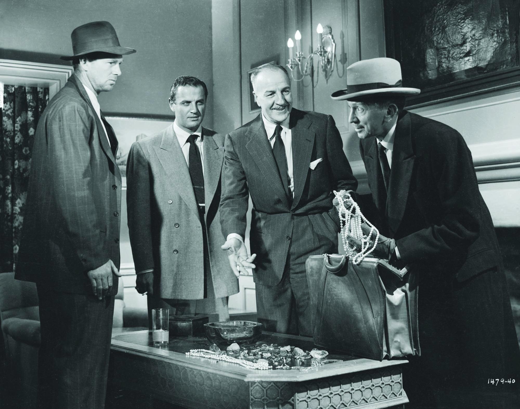 Sterling Hayden, Louis Calhern, Brad Dexter, and Sam Jaffe in The Asphalt Jungle (1950)
