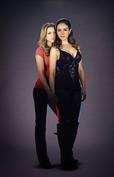 Anna Silk and Zoie Palmer in Lost Girl 2010