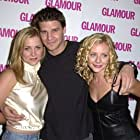 David Boreanaz, Jessica Capshaw, and Jessica Cauffiel at an event for Valentine (2001)