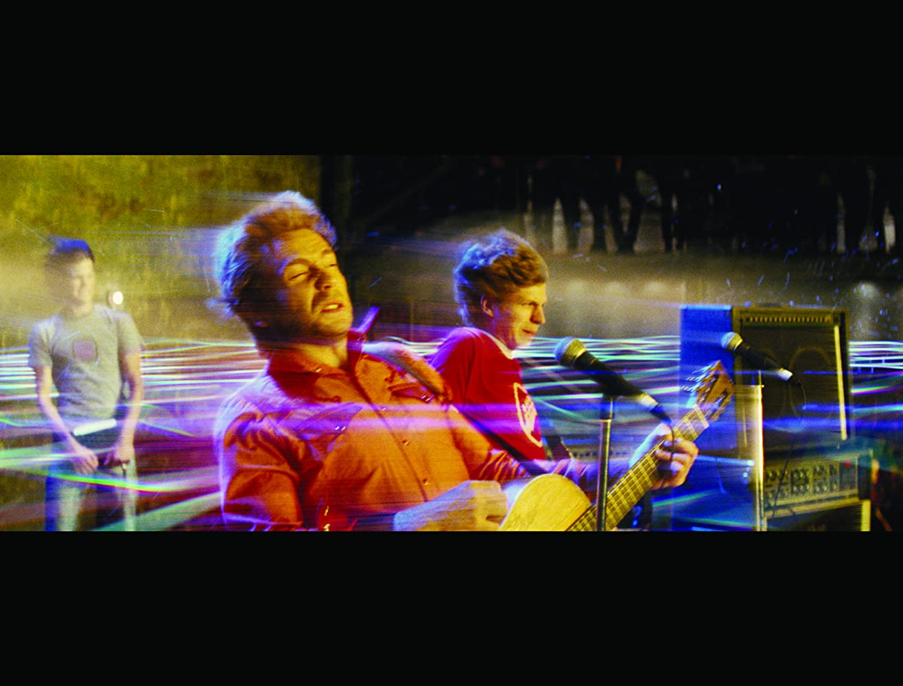 Michael Cera Mark Webber and Johnny Simmons in Scott Pilgrim vs the World 2010