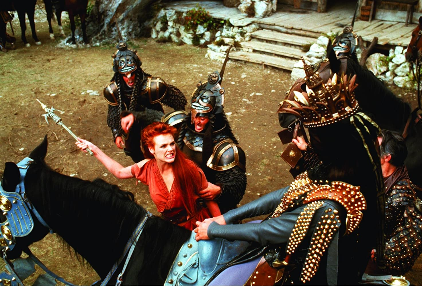 Brigitte Nielsen and Ottaviano Dell'Acqua in Red Sonja (1985)