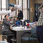 Andre Braugher, Melissa Fumero, and Andy Samberg in Brooklyn Nine-Nine (2013)