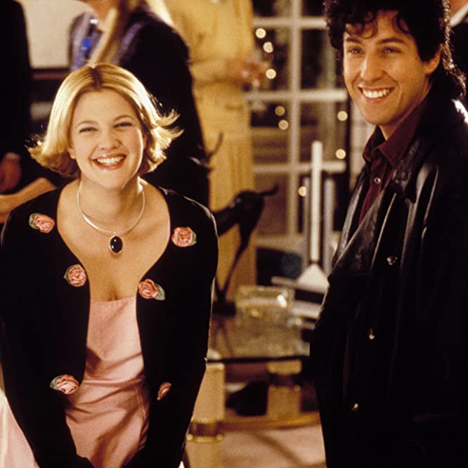 Drew Barrymore and Adam Sandler in The Wedding Singer (1998)