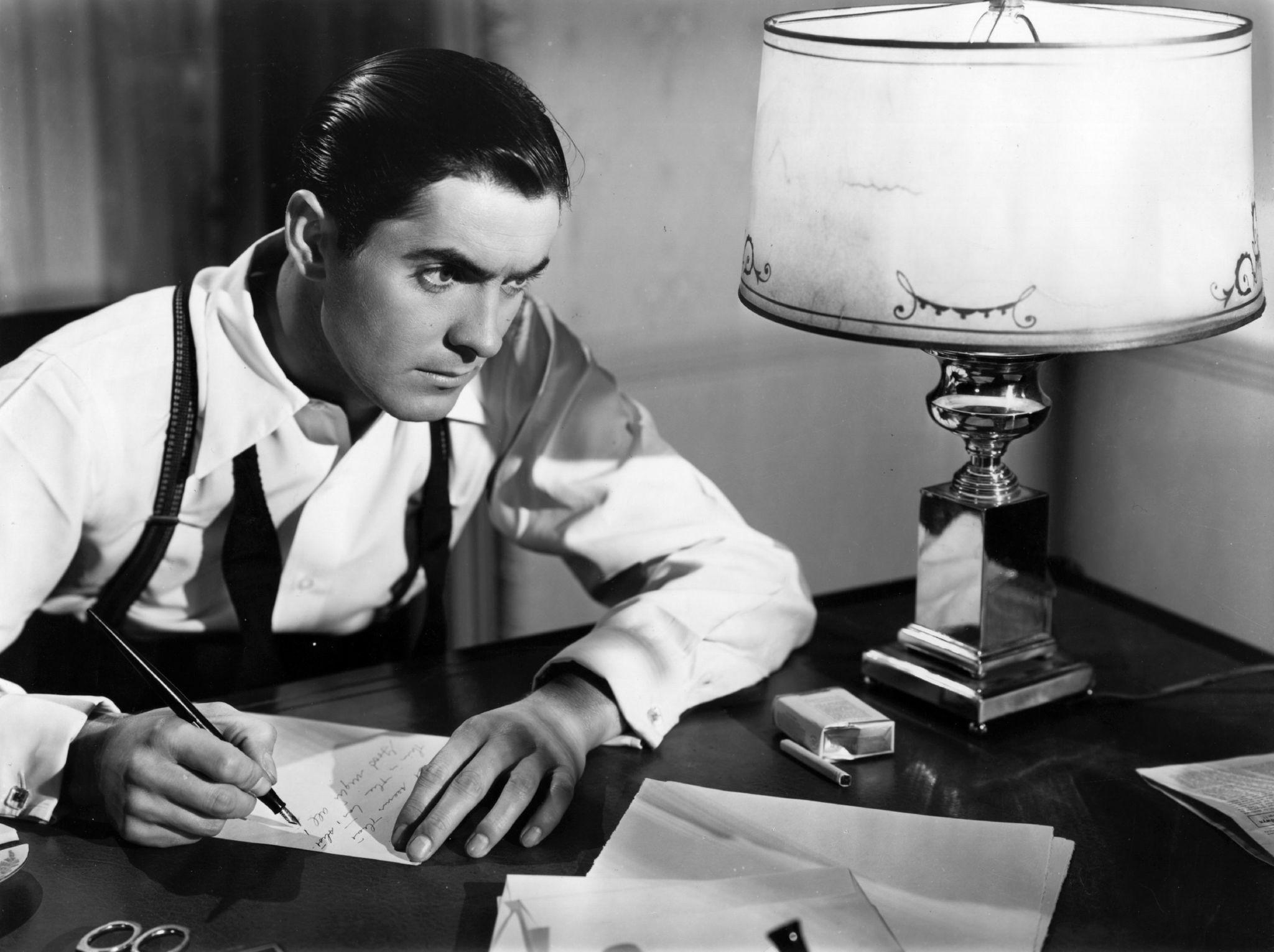 Tyrone Power in Johnny Apollo (1940)