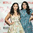 Jenny Han and Lana Condor at an event for To All the Boys I've Loved Before (2018)