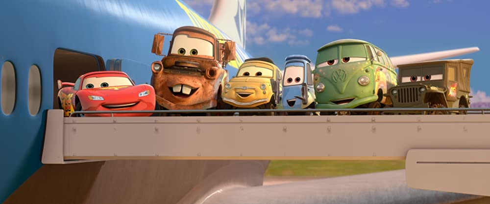 Cars 2 Group Shot Airplane Wing Image One