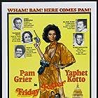 Pam Grier, Yaphet Kotto, Godfrey Cambridge, Eartha Kitt, Ted Lange, and Thalmus Rasulala in Friday Foster (1975)
