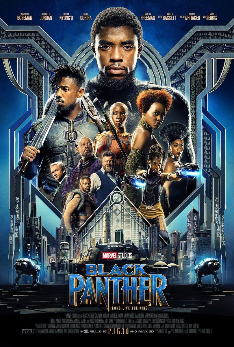 Angela Bassett, Forest Whitaker, Martin Freeman, Michael B. Jordan, Andy Serkis, Chadwick Boseman, Danai Gurira, Lupita Nyong'o, Daniel Kaluuya, and Letitia Wright in Black Panther (2018)