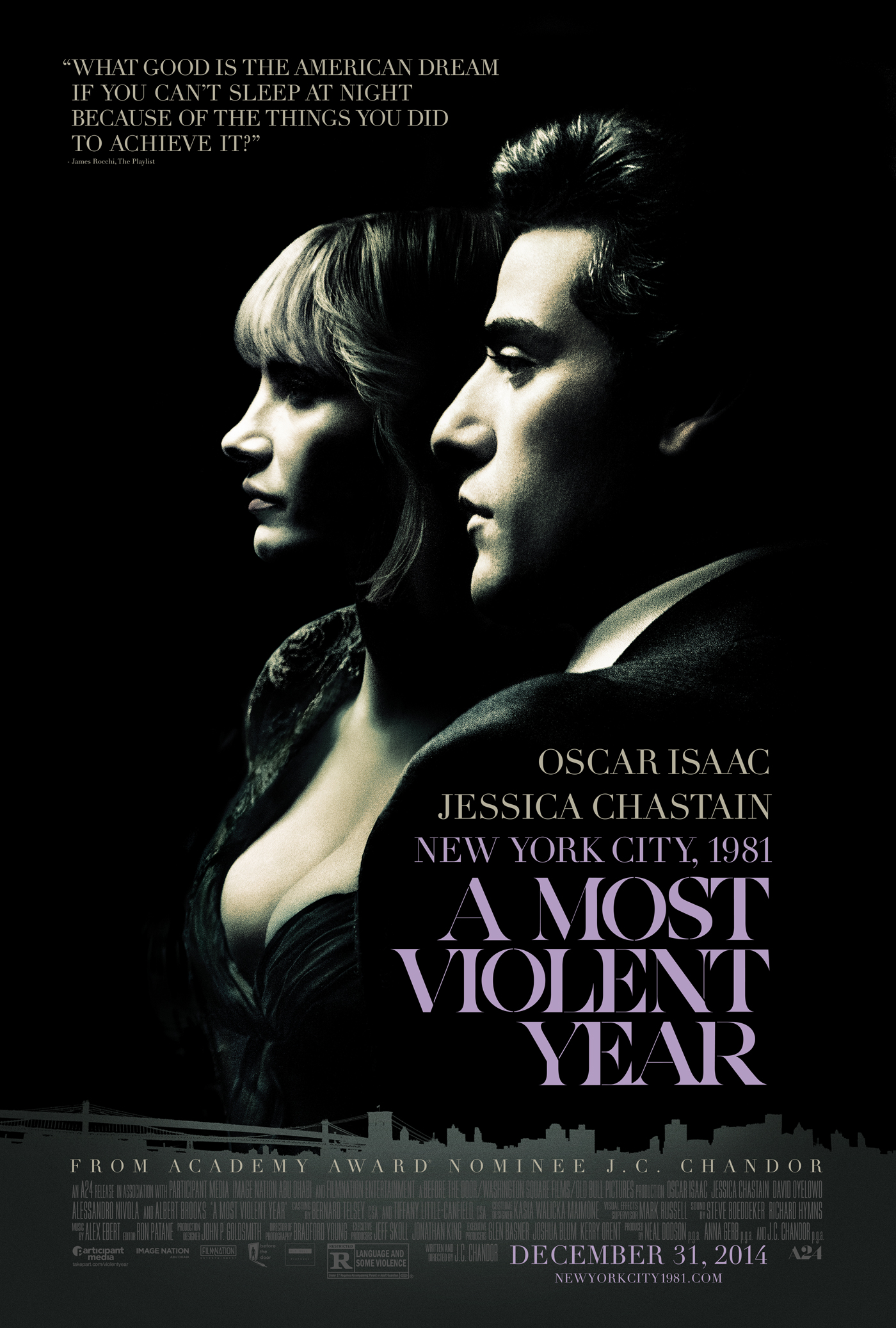 A Most Violent Year (2014) BluRay 480p, 720p & 1080p