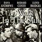 Dana Andrews, Lloyd Bridges, and Richard Conte in A Walk in the Sun (1945)