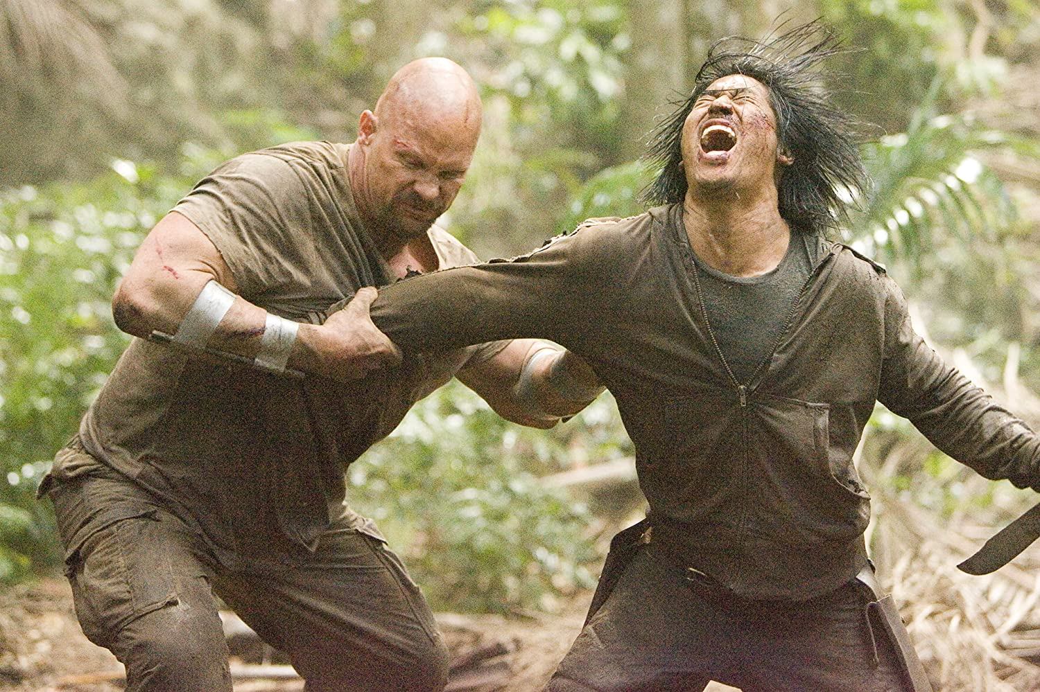 Steve Austin and Masa Yamaguchi in The Condemned (2007)