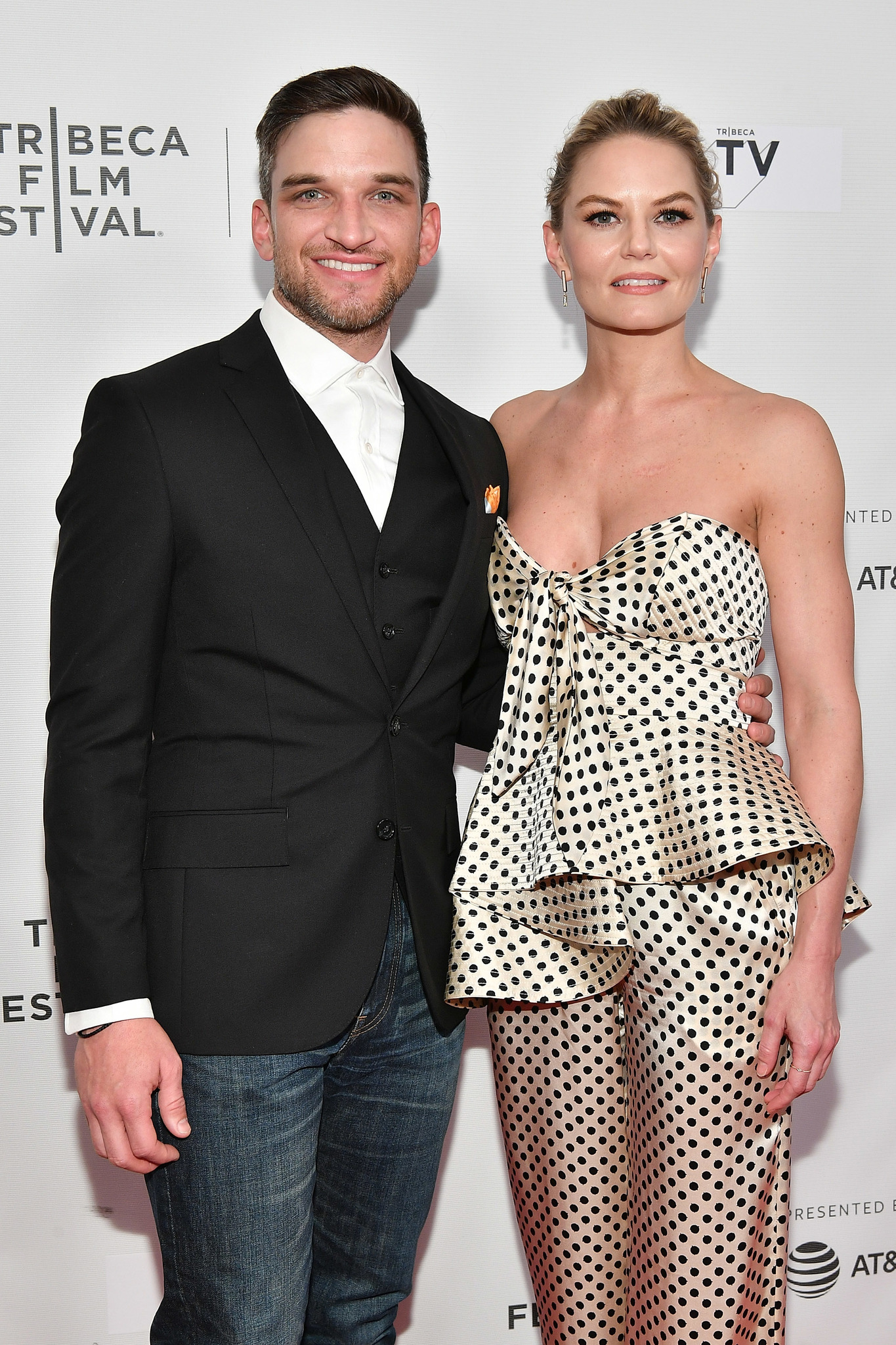 Jennifer Morrison and Evan Jonigkeit at an event for Fabled (2018)