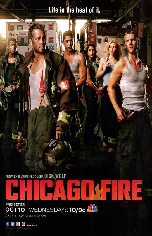 Lauren German, Jesse Spencer, Eamonn Walker, Charlie Barnett, Taylor Kinney, and Monica Raymund in Chicago Fire (2012)