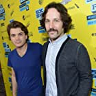 Emile Hirsch and Paul Rudd at an event for Prince Avalanche (2013)