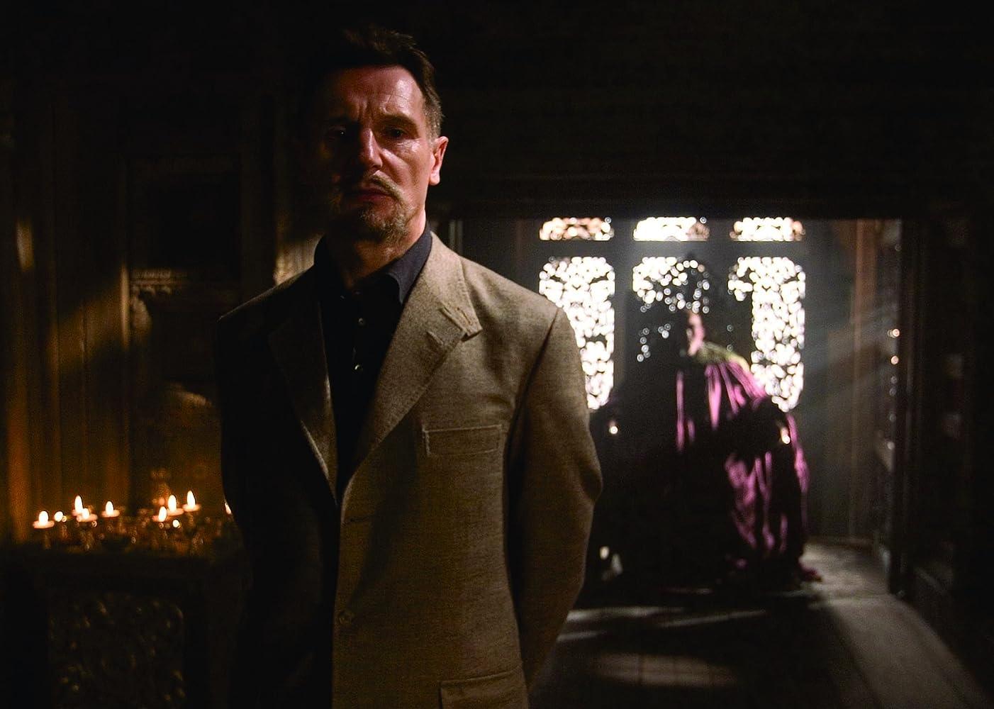 Liam Neeson and Ken Watanabe in Batman Begins (2005)