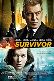 Pierce Brosnan and Milla Jovovich in Survivor (2015)