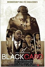 Black Card Poster