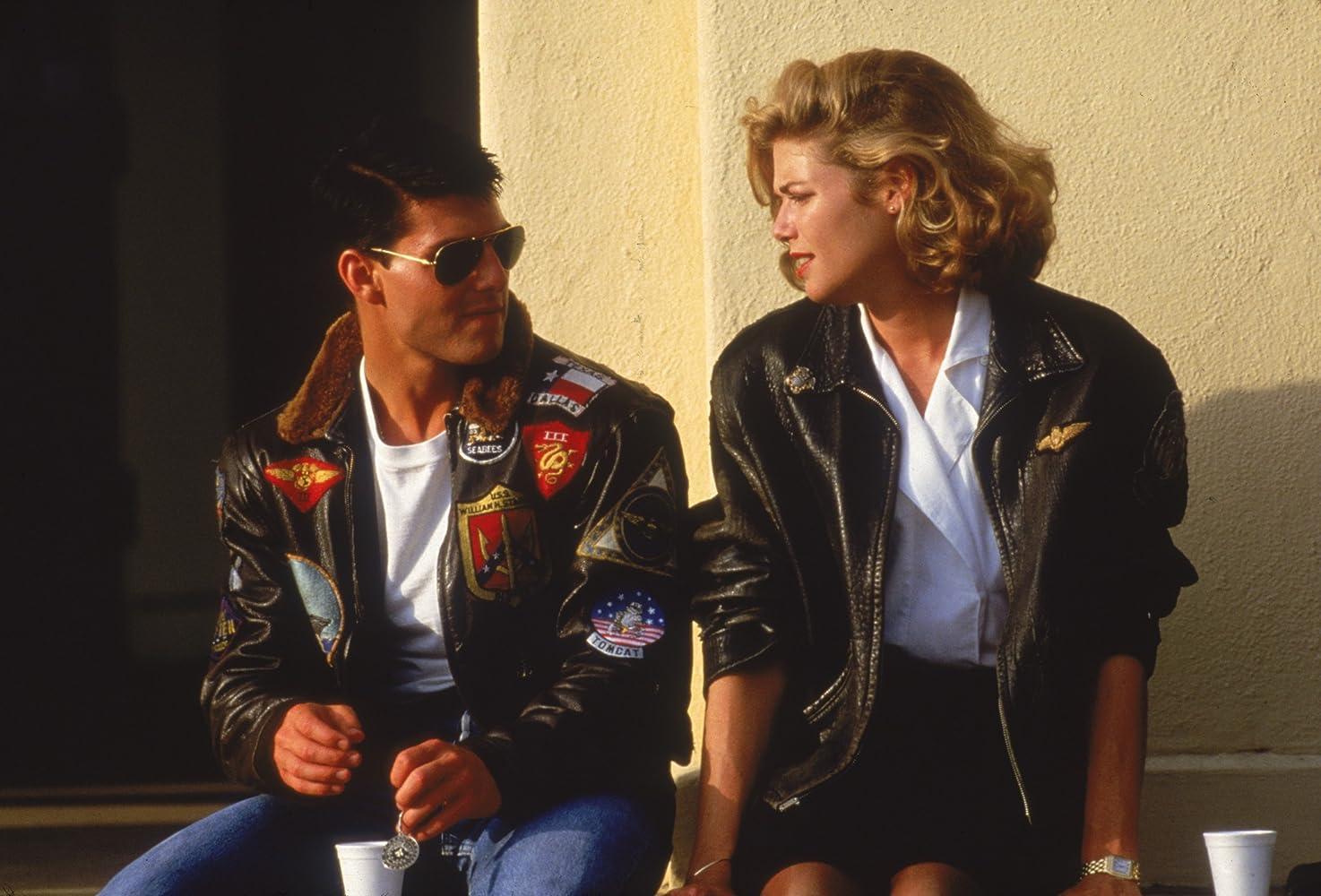 Tom Cruise and Kelly McGillis in Top Gun (1986)
