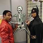 Danny Pudi and Donald Glover in Community (2009)
