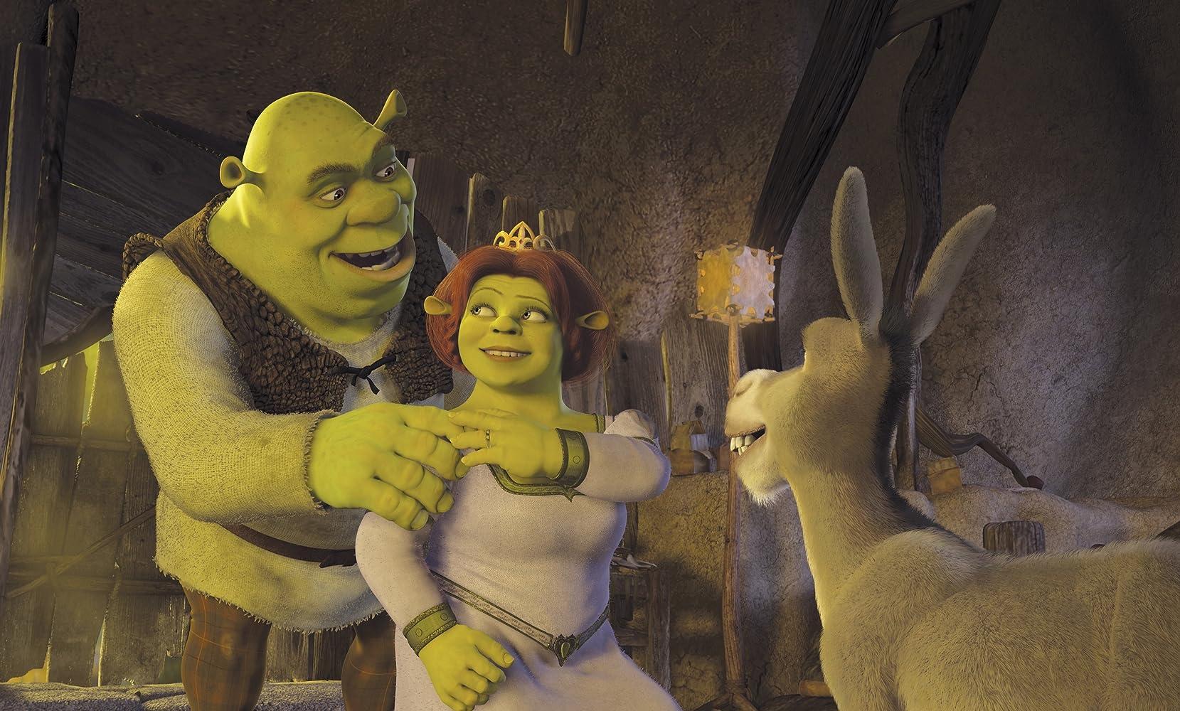 Cameron Diaz, Mike Myers, and Eddie Murphy in Shrek 2 (2004)