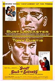 Burt Lancaster, Tony Curtis, Susan Harrison, and Barbara Nichols in Sweet Smell of Success (1957)