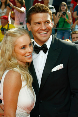 David Boreanaz and Jaime Bergman at an event for The 60th Primetime Emmy Awards (2008)