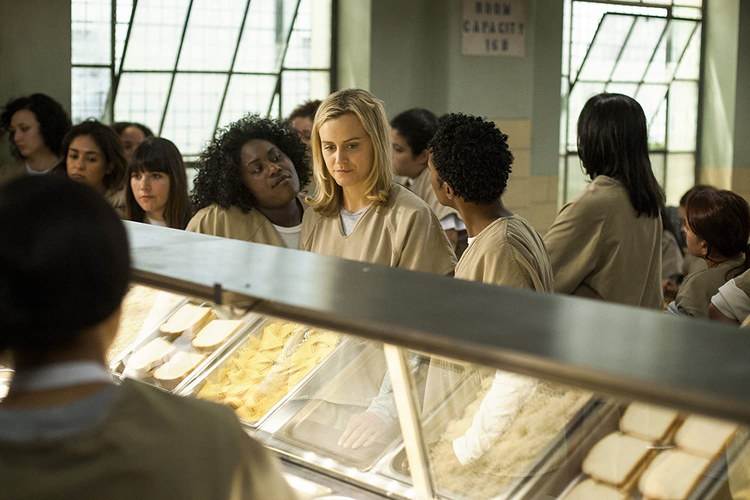 Taylor Schilling, Vicky Jeudy, Samira Wiley, and Danielle Brooks in Orange Is the New Black (2013)