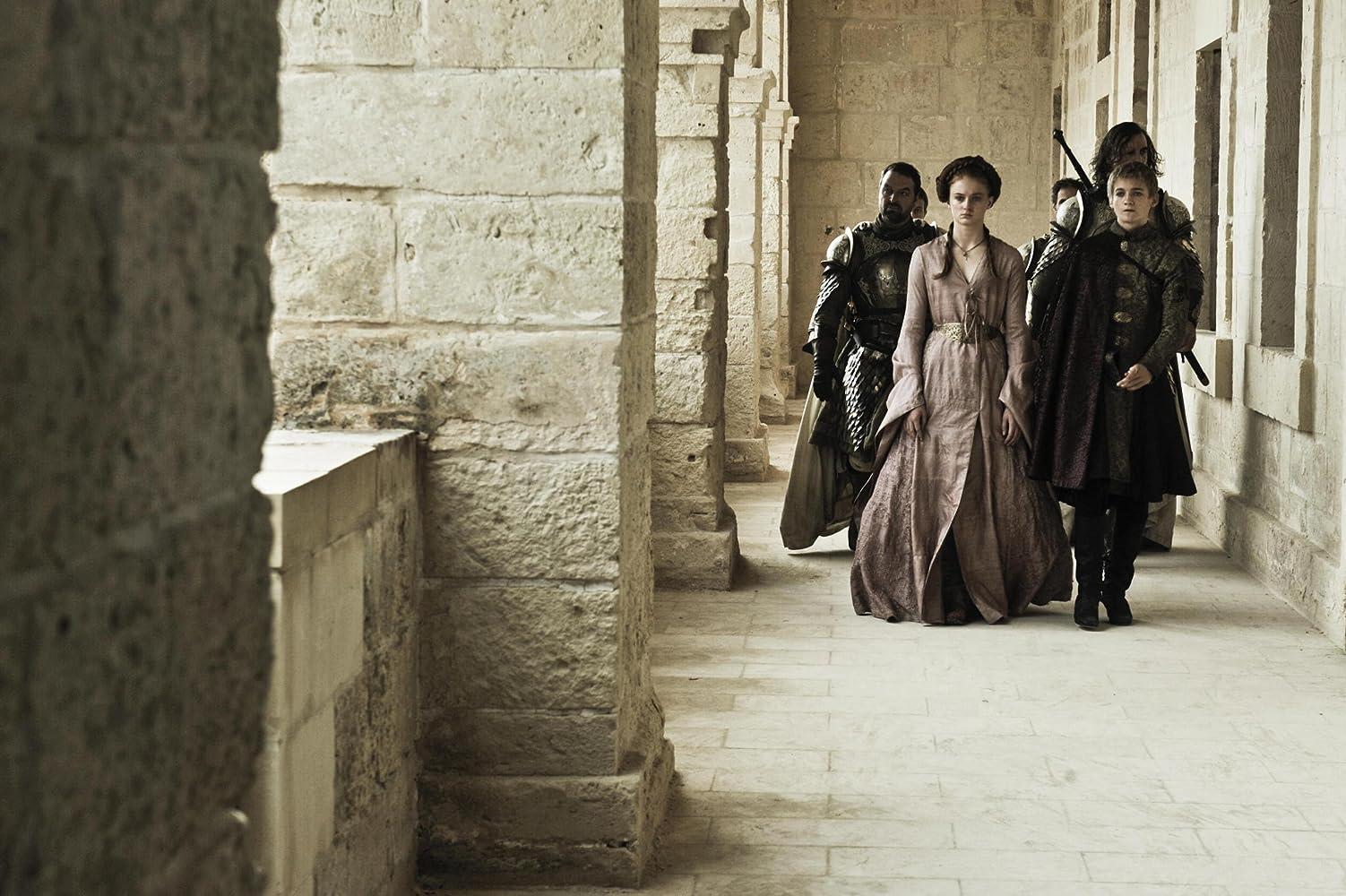 Ian Beattie, Jack Gleeson, Rory McCann, and Sophie Turner in Game of Thrones (2011)