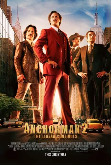 Will Ferrell, Steve Carell, David Koechner, and Paul Rudd in Anchorman 2: The Legend Continues (2013)