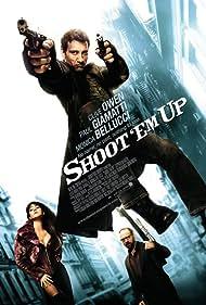 Monica Bellucci, Paul Giamatti, and Clive Owen in Shoot 'Em Up (2007)
