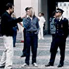 Director Tom Tykwer with Cate Blanchett and Giovanni Ribisi on the set