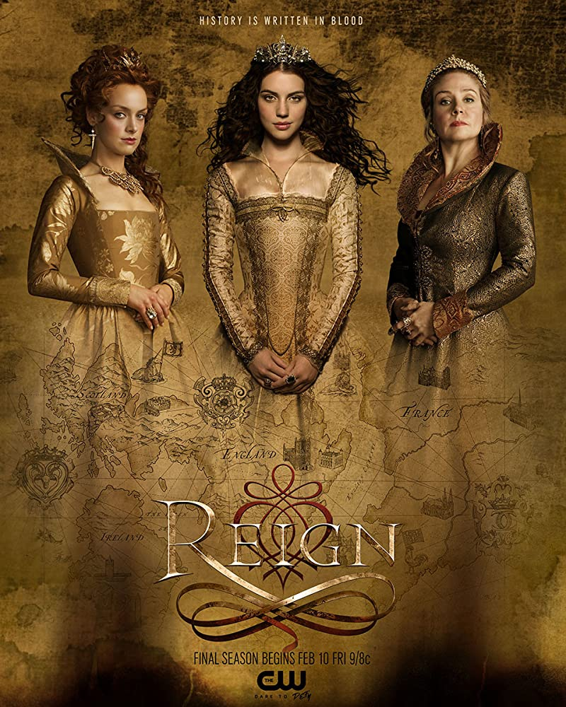 Megan Follows, Rachel Skarsten, and Adelaide Kane in Reign (2013)