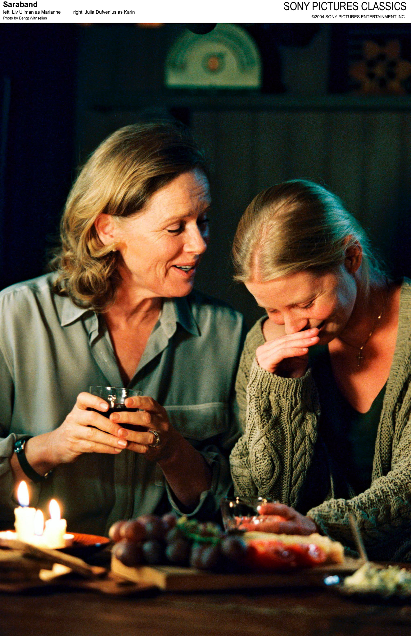 Julia Dufvenius and Liv Ullmann in Saraband (2003)