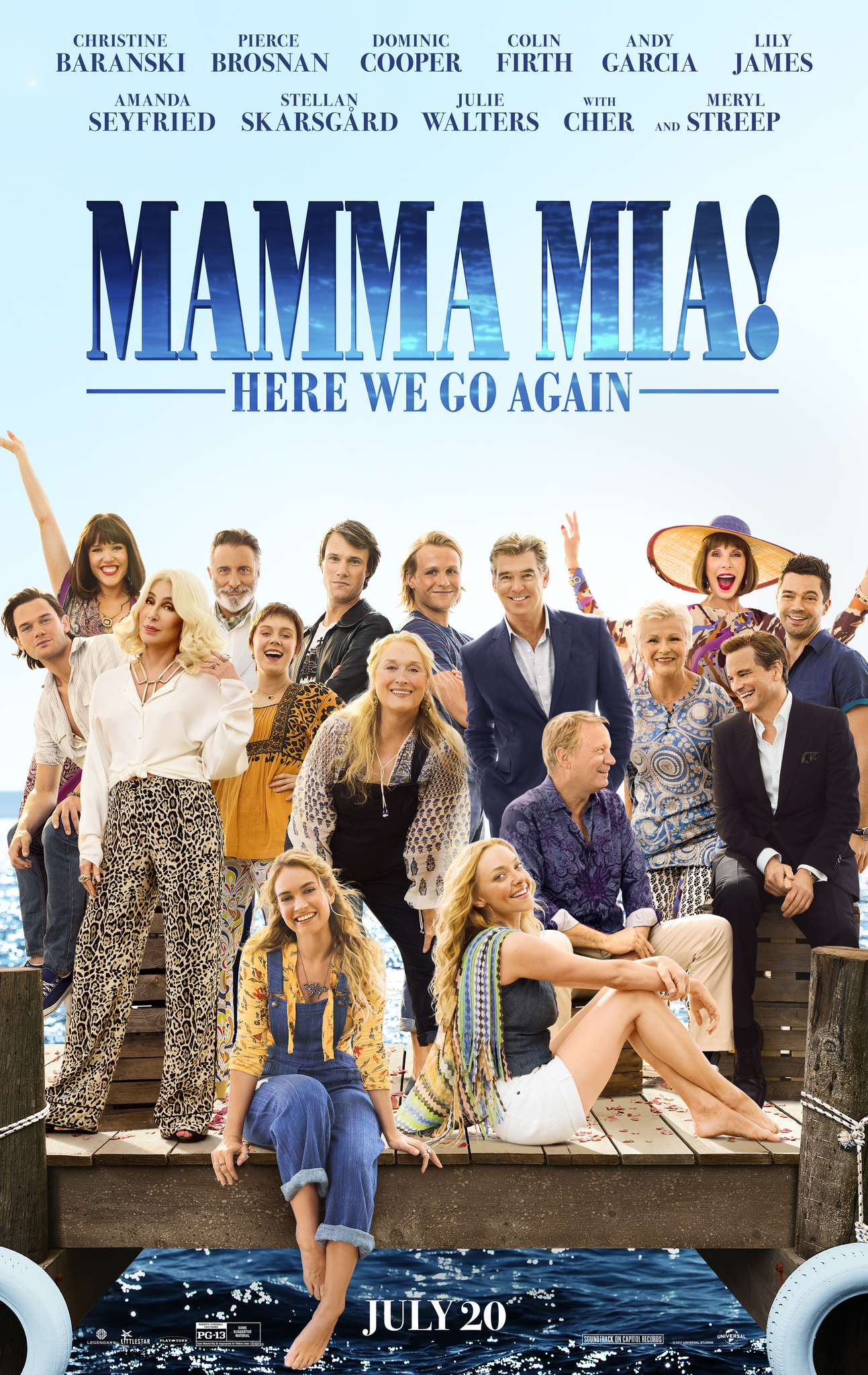 Image result for mamma mia here we go again movie poster