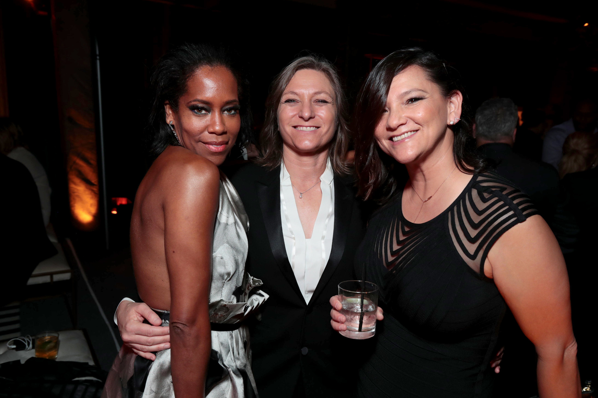 Regina King, Annie Imhoff, and Cindy Holland at an event for The 69th Primetime Emmy Awards (2017)